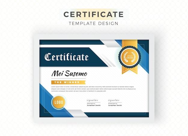 Certificato decorativo di forme astratte