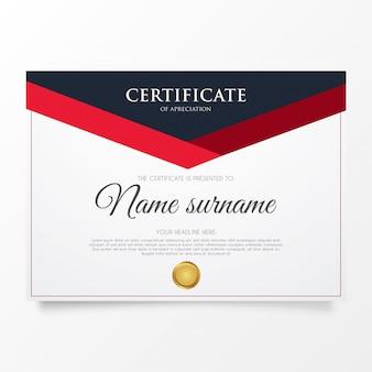 Certificato di apprezzamento moderno