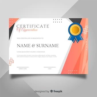 Certificato di apprezzamento