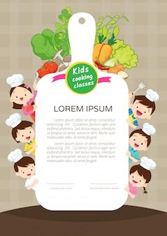Certificato di classe di cucina per bambini