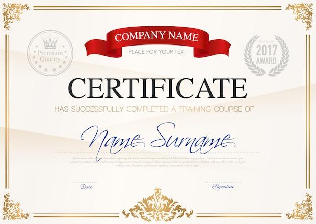 Certificato di modello di completamento