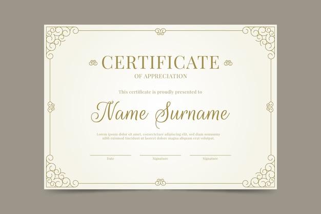 Certificato di modello di successo