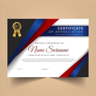 Certificato di risultati modello di progettazione con forme astratte