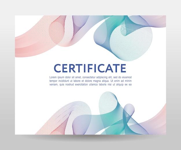 Certificato. diplomi modello, valuta