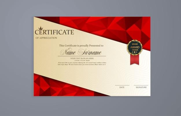 Certificato. diplomi modello