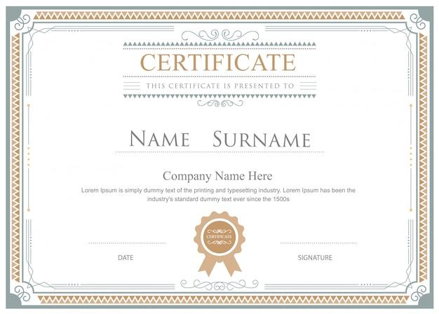 Certificato fiorisce elegante modello vettoriale