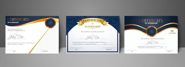 Certificato migliore premio set di diploma.
