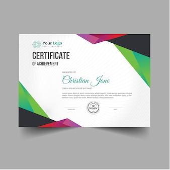 Certificato moderno astratto