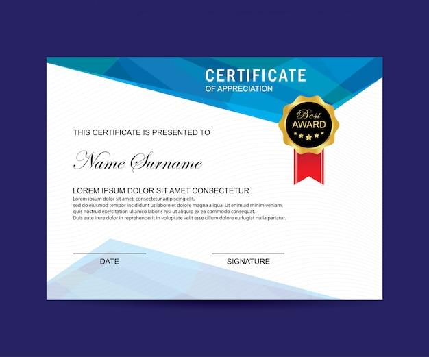Certificato moderno