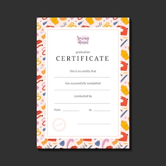 Certificato per la cucitura di scorie