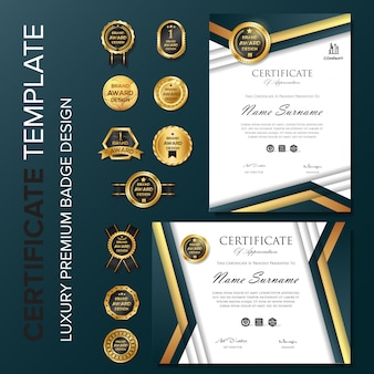 Certificato professionale con modello distintivo