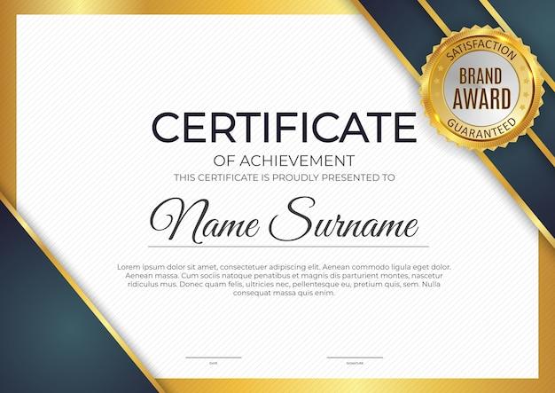 Certificato, sfondo modello diploma.