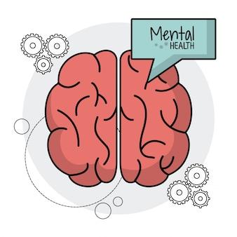 Cervello umano funzioni di salute mentale