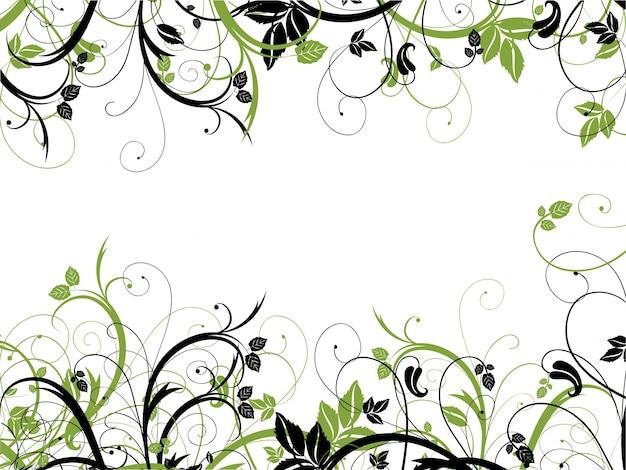 Chaotic astratto disegno floreale su uno sfondo bianco