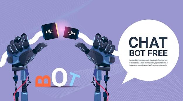 Chat bot gratuito robot assistenza virtuale del sito web o applicazioni mobili, intelligenza artificiale co