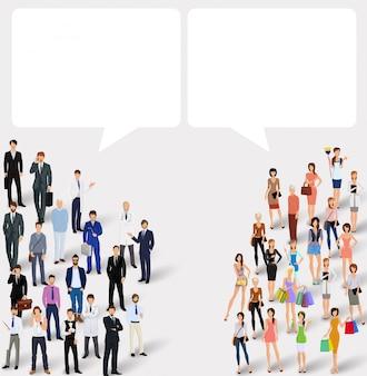 Chat concetto di persone