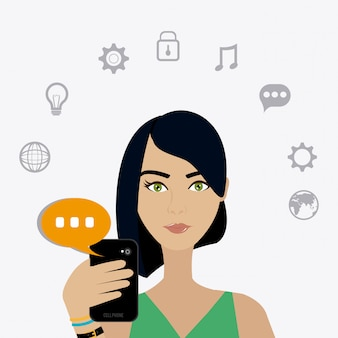 Chat design mobile.