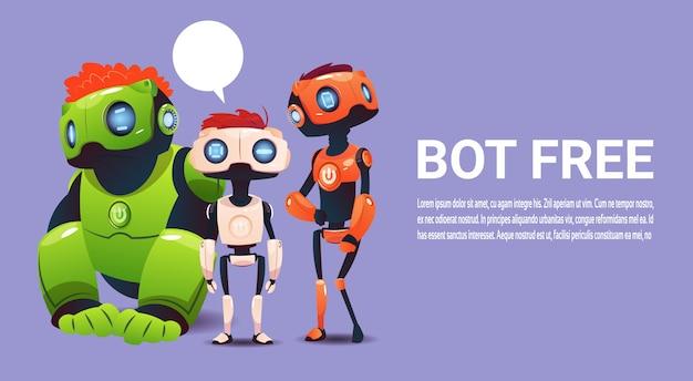 Chat gratuita bot, robot elemento di assistenza virtuale del sito web o applicazioni mobili, intell artificiale