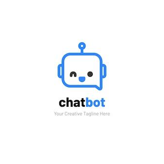 Chat logo con robot face