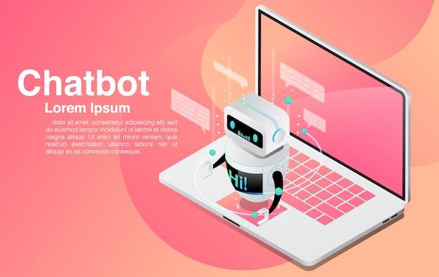 Chatbot, chat con l'applicazione chatbot, tecnologia chatbot e centro assistenza online,