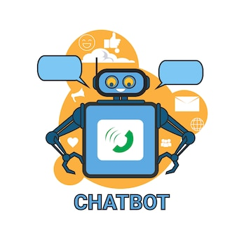 Chatbot icon concept supporto robot tecnologia applicazione chat digitale chat
