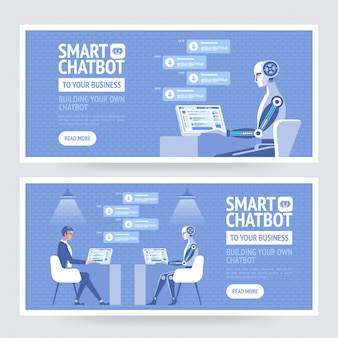Chatbot intelligente per la tua azienda. modello di banner