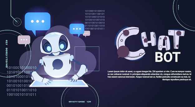 Chatter robotico usando la tavoletta digitale
