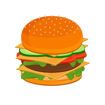 Cheeseburger hamburger gustoso e appetitoso.