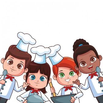 Chef bambini cartoni animati
