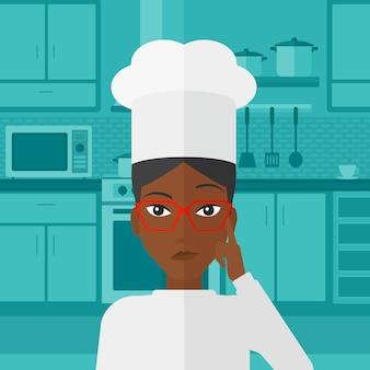 Chef che punta l'indice verso l'alto.