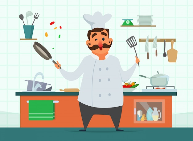 Chef di cucina in cucina