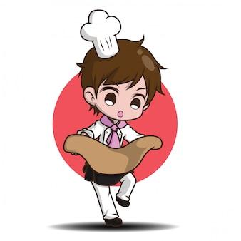 Chef divertente cartone animato carino.