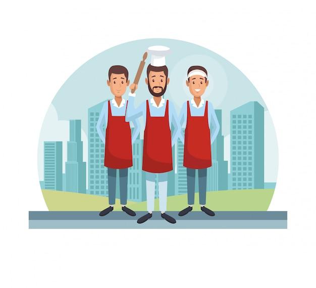 Chef e camerieri