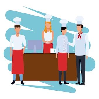 Chef sul registratore di cassa