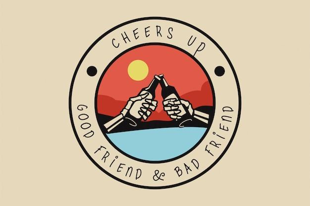 Cherrs up. distintivo del teschio