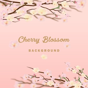 Cherry blossom invitation background