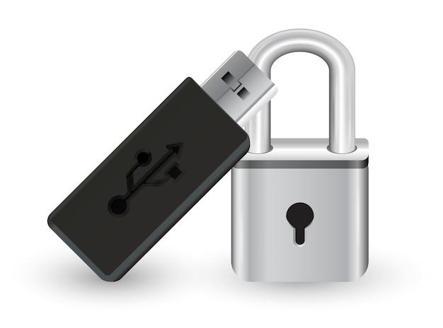 Chiavetta usb con serratura a chiave master in acciaio