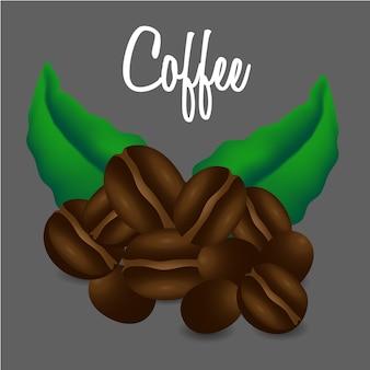 Chicchi di caffè. illustrazione di vettore
