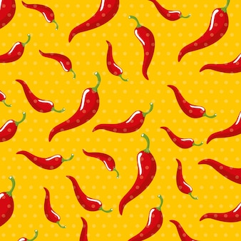 Chili pattern di sfondo vegetale
