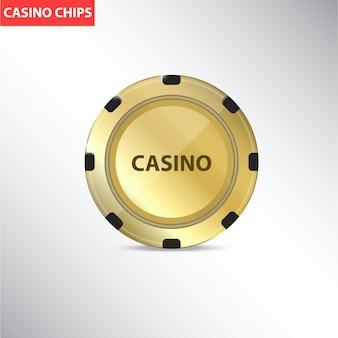 Chip del casinò d'oro