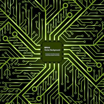 Chip elettronico sfondo vettoriale