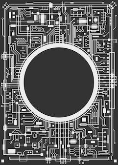 Chipsset sfondo digitale