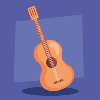 Chitarra classica in legno, strumento musicale.