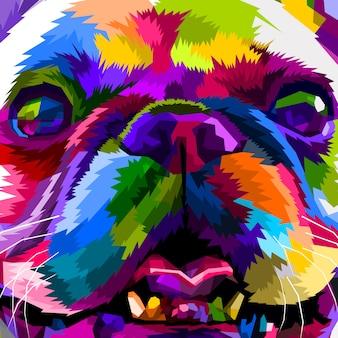 Chiuda in su del bulldog francese