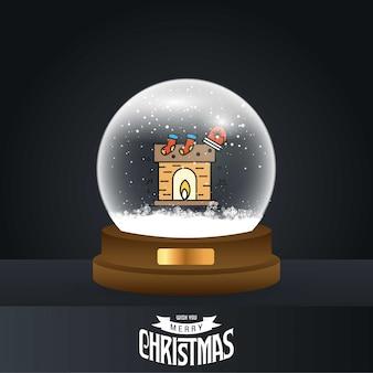 Christmas fire card di casa