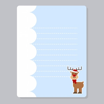 Christmas journaling cards, note