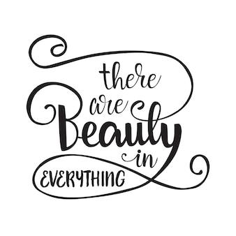 Ci sono bellezza in tutto