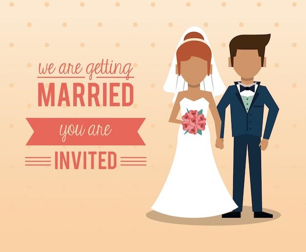 Ci sposiamo con una coppia senza volto di appena sposati