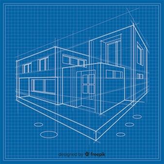 Cianografia 3d di una costruzione