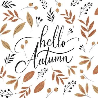 Ciao autunno - scritte
